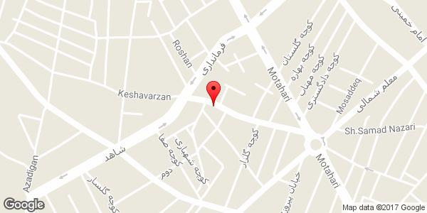 موقعیت جام پلاستیک شاه محمدی روی نقشه