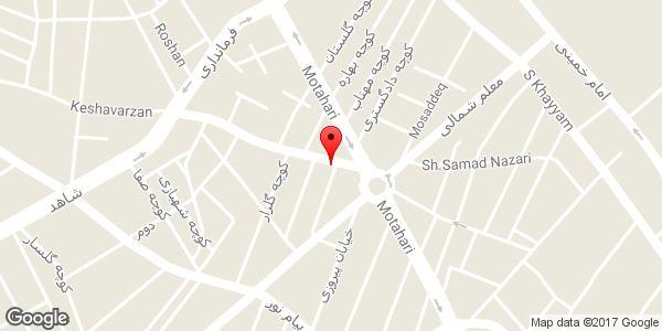 موقعیت فروشگاه کاشی و سرامیک غفاری روی نقشه