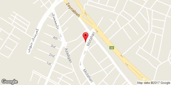 موقعیت نمایشگاه اتومبیل متین روی نقشه