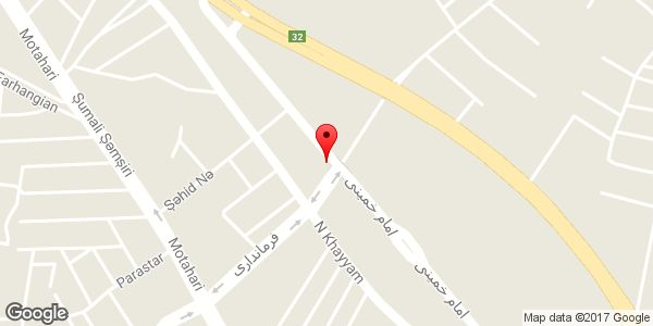 موقعیت مرکز مشاوره شاهد و ایثارگر شهرستان میانه روی نقشه