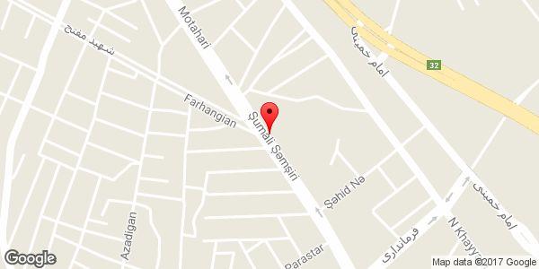 موقعیت فروشگاه افق کوروش روی نقشه