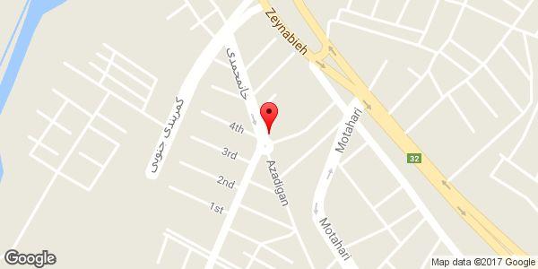 موقعیت شبکه دامپزشکی شهرستان میانه روی نقشه