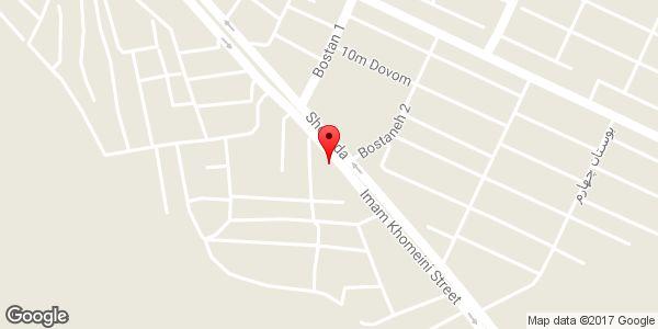 موقعیت بورس مصالح ساختمانی و ابزار آلات محمدزاده روی نقشه