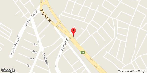موقعیت بورس مصالح ساختمانی و تیرچه بلوک شقاقی روی نقشه