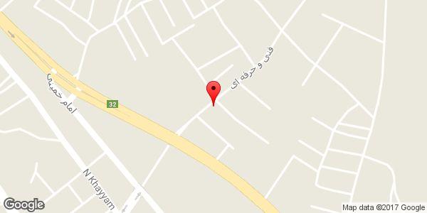 موقعیت سوپر آراز روی نقشه