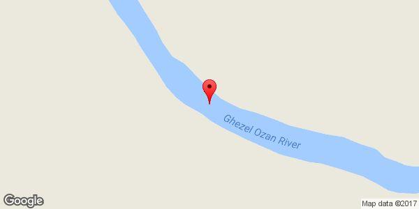موقعیت پل تاریخی پردلیس روی نقشه