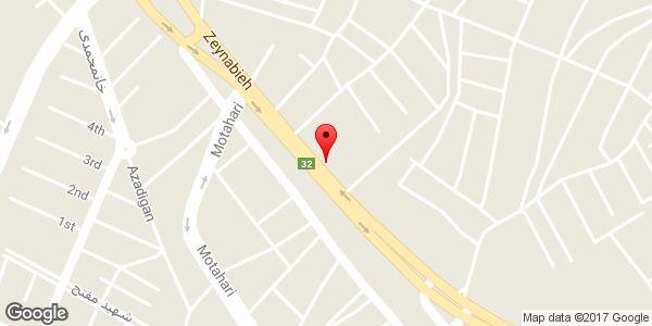 موقعیت فروشگاه مجاز لوازم یدکی خودرو صادقی روی نقشه