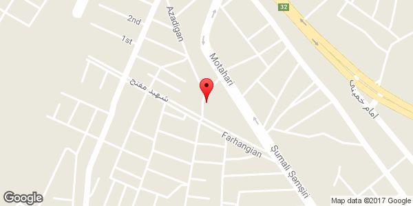 موقعیت سوپر مارکت حسینی روی نقشه