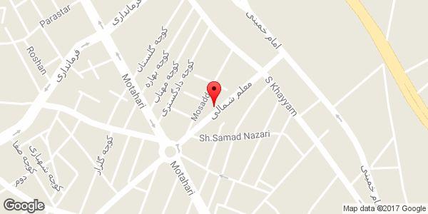 موقعیت لوازم خانگی عمادیان روی نقشه