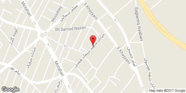موقعیت سالن زیبایی و مرکز فوق تخصصی اپیلاسیون آیناز روی نقشه