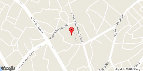موقعیت مسجد جامع میانه روی نقشه