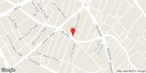 موقعیت کتابسرای فرید روی نقشه