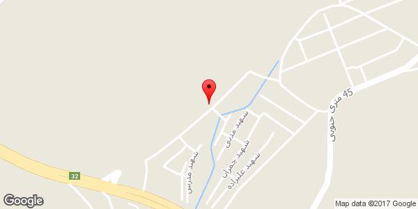 موقعیت ابزار آلات ساختمانی اسدی روی نقشه