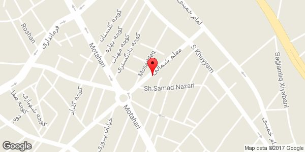 موقعیت فروشگاه میرزائی روی نقشه