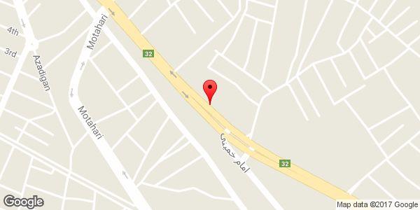 موقعیت شرکت تولیدی صنعتی روستا ماشین میانه روی نقشه