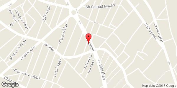 موقعیت فروشگاه چینی بهداشتی مروارید روی نقشه