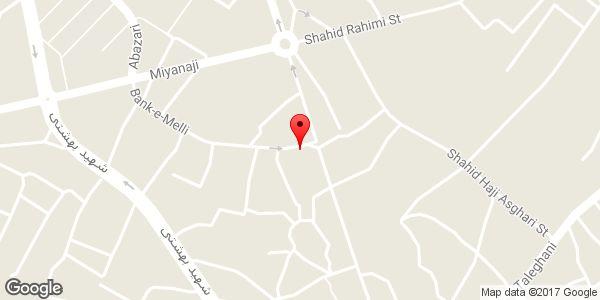 موقعیت پارکینگ عمومی روی نقشه
