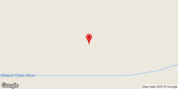 موقعیت رودخانه قزل اوزن روی نقشه
