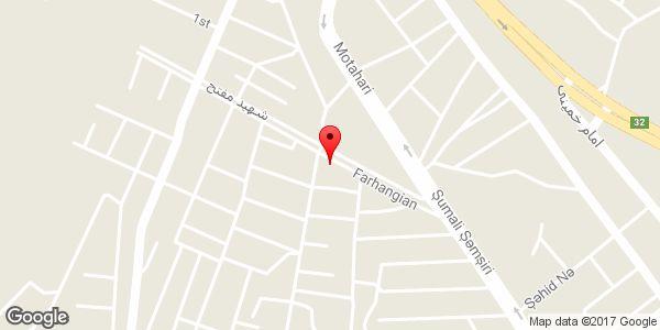 موقعیت خیاطی کارینو روی نقشه