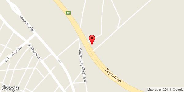 موقعیت کارخانه نگین روی نقشه