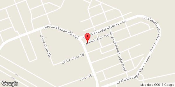 موقعیت مسجد امام علی (ع) روی نقشه