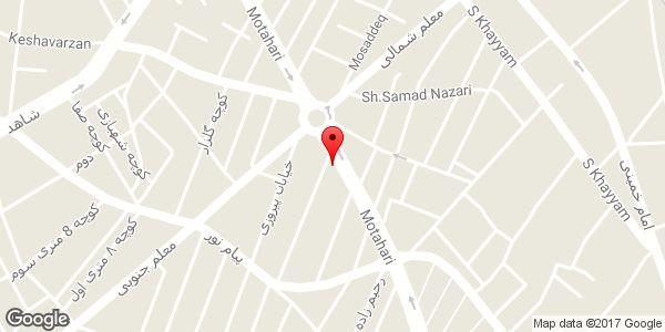 موقعیت پوشاک شوکا روی نقشه
