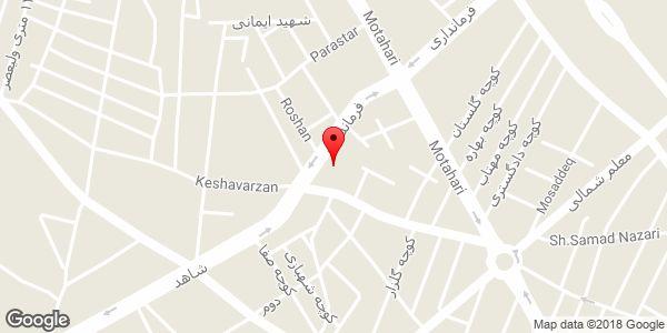 موقعیت مسجد فاطمه الزهرا روی نقشه