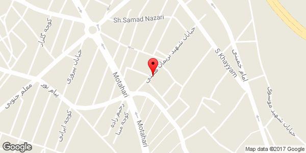 موقعیت دفتر نقشه برداری آزیموت روی نقشه