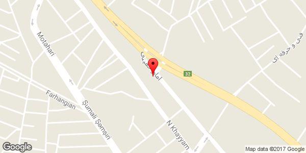 موقعیت ساندویچ گل پارک روی نقشه