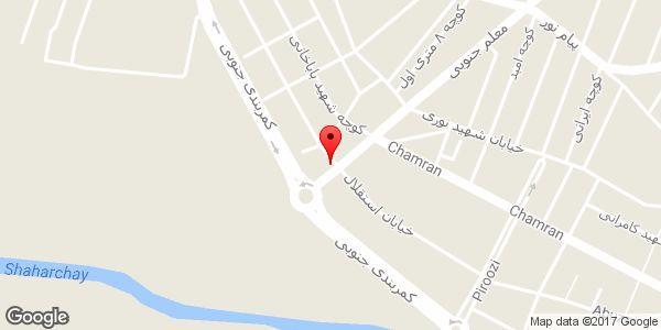 موقعیت کاشی و سرامیک غفاری سلمان پور روی نقشه