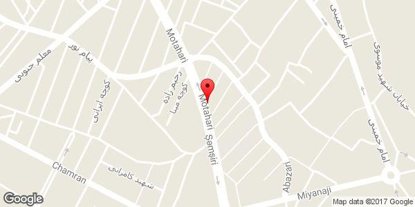 موقعیت فروشگاه سارای روی نقشه