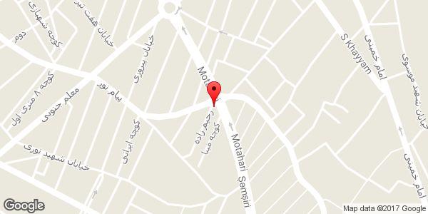 موقعیت فروشگاه آرایشی و بهداشتی دیور روی نقشه