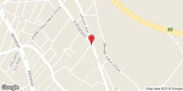 موقعیت کافه دنج روی نقشه