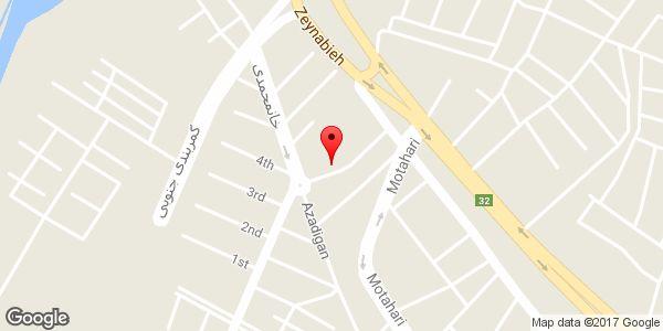 موقعیت اداره امور عشایر شهرستان میانه روی نقشه