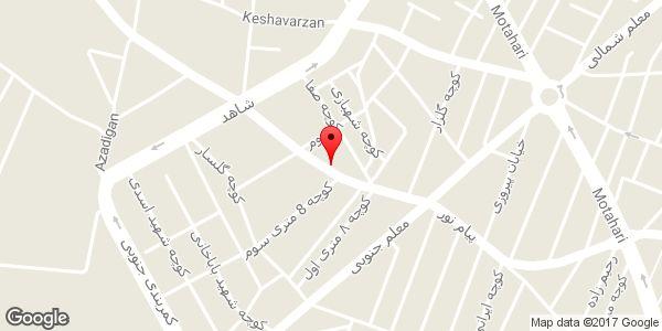 موقعیت سالن زیبایی اولدوز روی نقشه