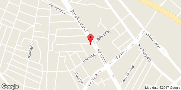 موقعیت اداره بنیاد شهید و امور ایثارگران شهرستان میانه روی نقشه