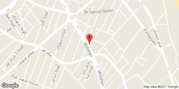 موقعیت آرایشی بهداشتی حیاط روی نقشه