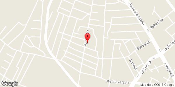 موقعیت خیاطی یاسمین روی نقشه