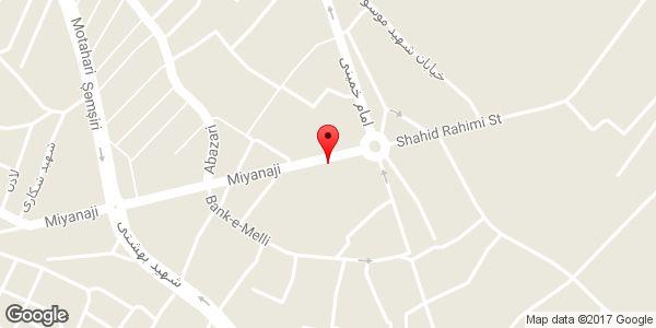 موقعیت آژانس و پارکینگ غزال روی نقشه