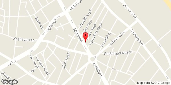 موقعیت رستوران آرمان روی نقشه
