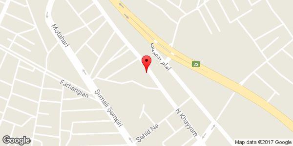 موقعیت پنچر گیری مارشال روی نقشه