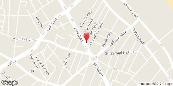 موقعیت کتاب فروشی شاهمحمدی روی نقشه