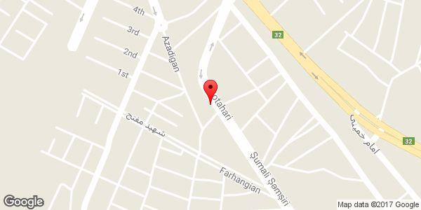 موقعیت نانوایی (سبوس دار) روی نقشه