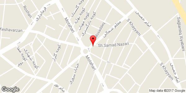 موقعیت کفش فروشی پلاریس روی نقشه