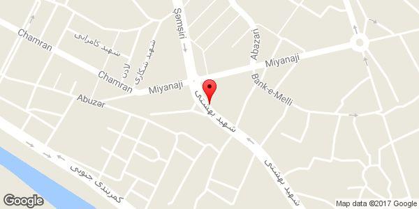 موقعیت فروشگاه رنگ میرزائی روی نقشه