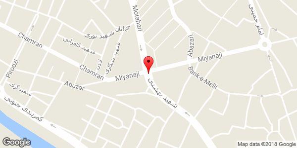 موقعیت میدان نماز روی نقشه