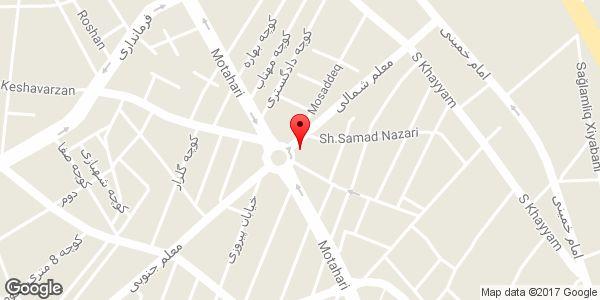 موقعیت فروشگاه مداپارک روی نقشه
