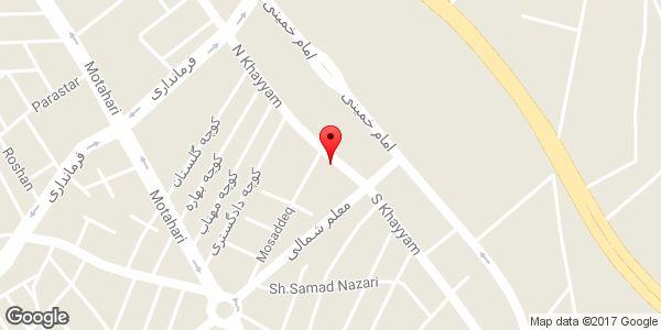 موقعیت فروشگاه لوازم تحریر کالج روی نقشه