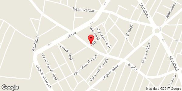 موقعیت دفتر فنی مهندسی آژند روی نقشه