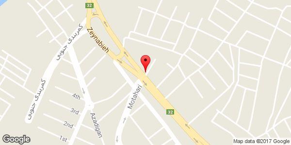 موقعیت ایستگاه تقویت روی نقشه